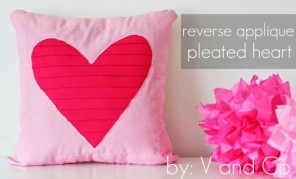 pleated heart