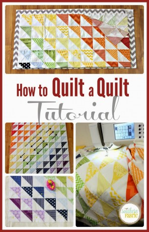 how to quilt a quilt tutorial