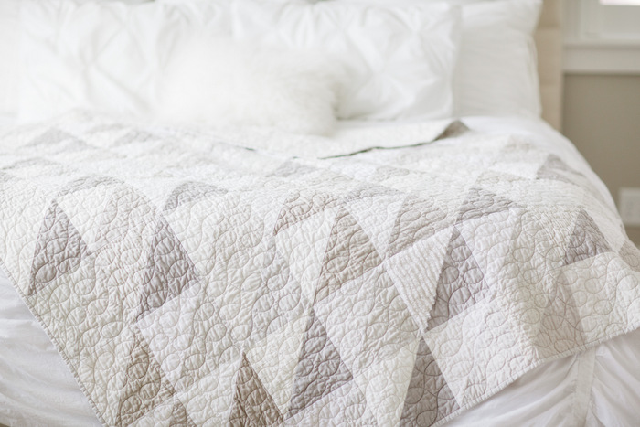 Modern Gray And White Neutrals Quilt Southern