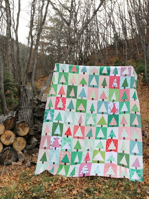 Modern Christmas Tree Quilt Block Tutorial Southern Fabricsouthern