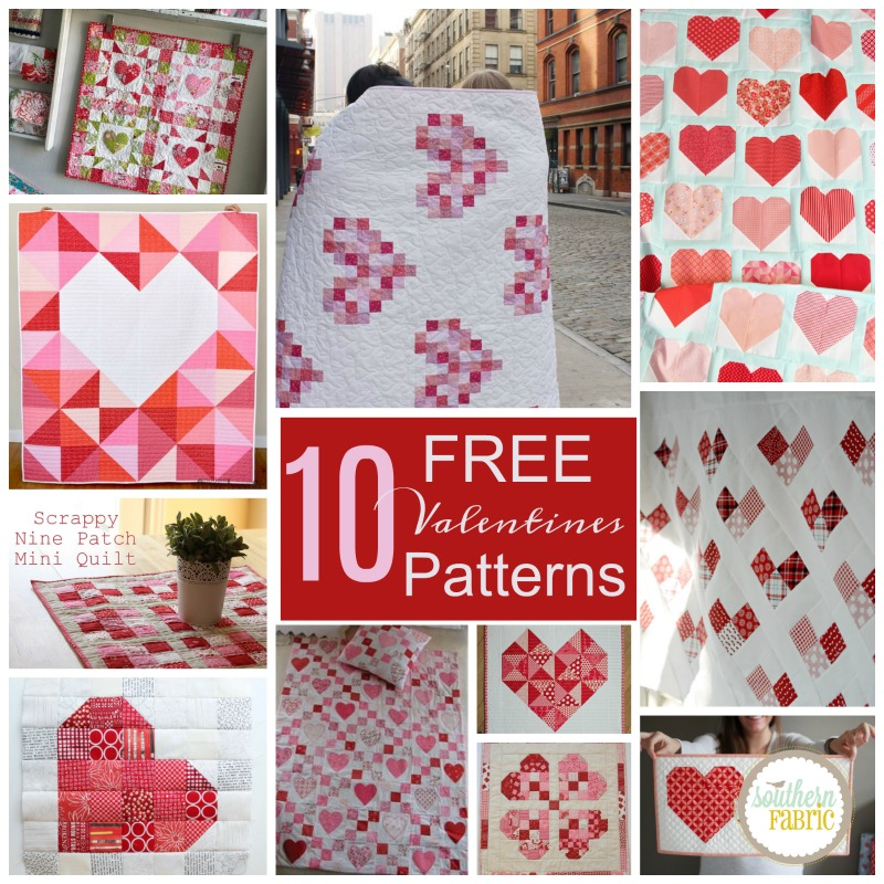 10 Fabulously Free Valentines Quilts Southern Fabricsouthern Fabric