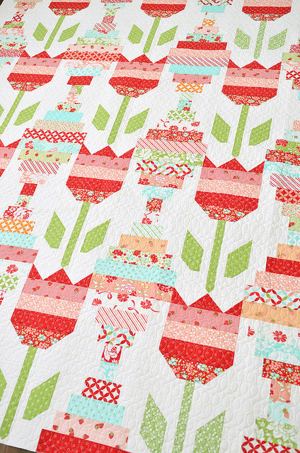 Vintage Tulips Quilt Kit Now Available Southern