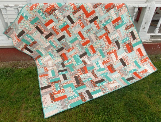 Jelly Roll Rail Fence Free Quilt Pattern Southern